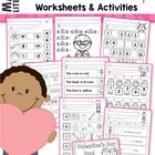 Valentine's Day Math & Literacy Worksheets & Activities No Prep