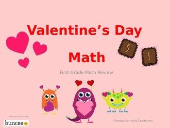 Valentine's Day Math Review: Frist Grade