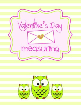 Valentine's Day Math Ruler Measuring - units to the quarter inch