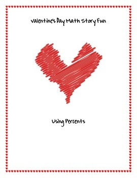 Valentine's Day Math Story Fun - Percents