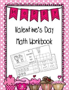 Valentine's Day Math Workbook
