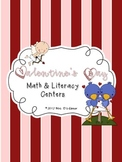 Valentine's Day Math and Literacy Centers { BONUS cards an