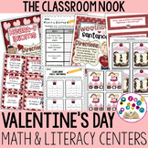 Valentine's Day Math and Literacy Centers for Older Studen