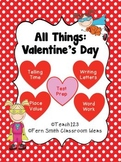 St. Valentine's Day Math and Literacy Center Bundle