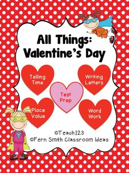 St Valentine's Day Math and Literacy Center Bundle