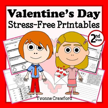 Valentine's Day NO PREP Printables - Second Grade Common C