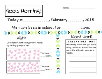 Valentines Day Math and Phonics Activities