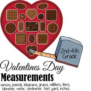 Valentines Day Measurement Activity & Worksheets