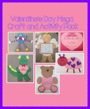 Valentine's Day Mega Craft and Activity Pack