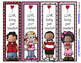 Valentine's Day Bookmarks - (From Teacher) 4 Designs -2 sayings