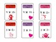 Valentine's Day Multiplication Fact (1s-5s)  Board Game