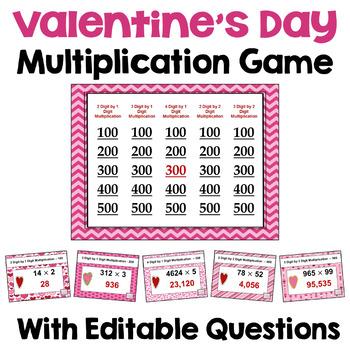 Valentine's Day Game - Multiplication