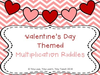 Valentine's Day Multiplication Riddles FREEBIE!