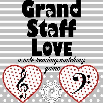 Valentine's Day Music Game: Grand Staff Hearts