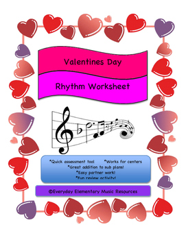 February Valentine's Day Music Match - Number of rests in