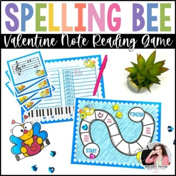 Valentine's Day Musical Spelling Bee at the Piano {Color a