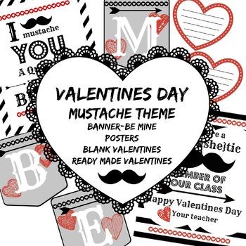 Valentines Day- Mustache Theme