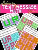 Valentine's Day Mystery Text Messages - Division Fact Practice