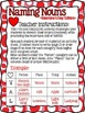 Valentine's Day: Naming Nouns Category Activity (FREEBIE)
