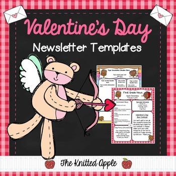 Valentine's Day Newsletter Templates {FREEBIE}