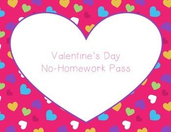 Valentine's Day No-Homework Pass