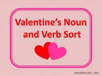 Valentine's Day Noun and Verb word sort