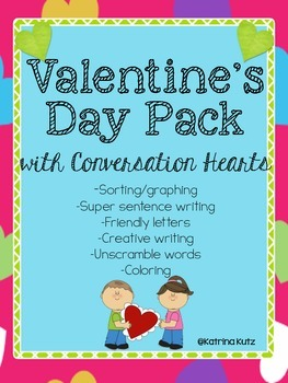 Valentine's Day Pack- with  Conversation Hearts