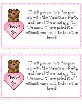 Valentine's Day Parent Thank You