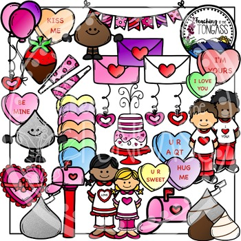 Valentine's Day Party Clipart Bundle