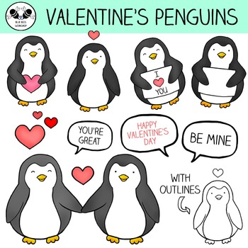 Valentine's Day Penguin Clip Art