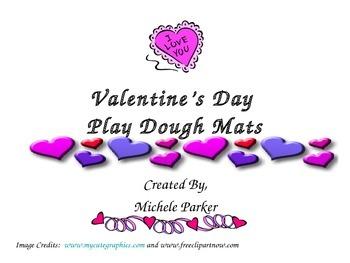 Valentine's Day Play Dough/Play-Doh/Playdough Mat FREEBIE