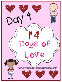 Valentine's Day Positive Affirmation Hearts:  Day 4 of 14