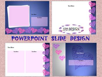 Valentine's Day - Hearts - Editable Template - PowerPoint