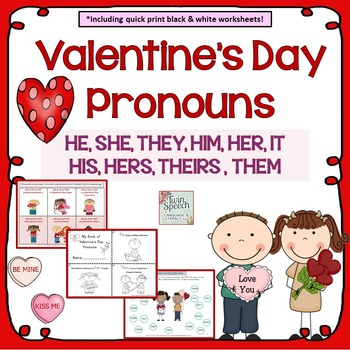 Valentine's Day Pronouns HE, SHE, THEY, HIM, HER, HIS, THE