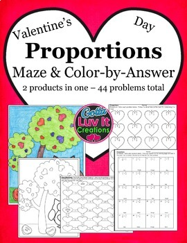Valentine's Day Math Proportions Bundle - Valentine's Day