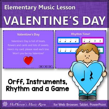 Valentine's Day (Quarter Note & Quarter Rest): Orff, Rhyth