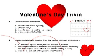 Valentine's Day Quiz
