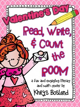 Valentine's Day Read, Write, and Count the Room {Literacy/