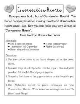 Valentines Day Recipe Activity