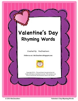 Rhyming Words - Valentine's Day Theme