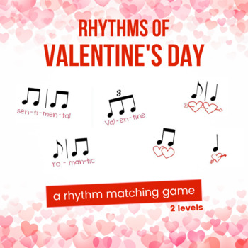 Valentine's Day Rhythm Worksheets (2 levels of difficulty)