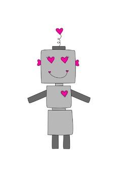Valentine's Day Robot Clipart
