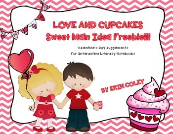 Valentine's Day SWEET FREEBIE for Interactive Literacy Not