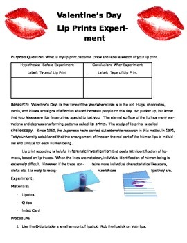 Valentine's Day Science Lab Experiment