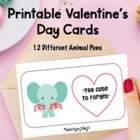 Valentine's Day Cards Scratch-Off Craft ~ with 12 Animals