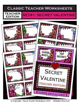 Valentine's Day-Set 1: Secret Valentine Teacher Edition -R