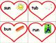 Valentine's Day Short Vowel Hearts - ELA Center Activities