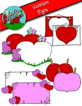 Valentine's Day Signs Clipart / Graphics