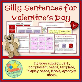 Valentine's Day Word Work- Silly Sentences for Fluent Readers