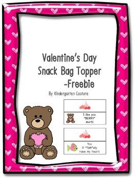 Valentine's Day Snack Bag Topper  -Freebie